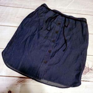 5/25 Reed lightweight Jean skirt pockets belt sz 4